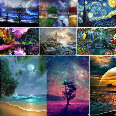 Fantastic View DIY 5D Diamond Painting Cross Stitch Kits Home Decor Embroidery