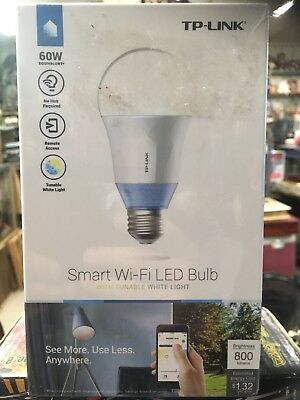 Kasa Smart Wi-Fi LED Light Bulb by TP-Link - Multicolor, Dimmable, A19, (LB130)