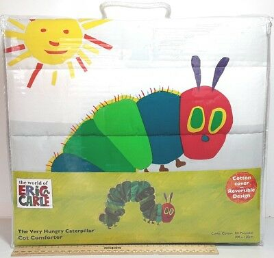 Very Hungry Caterpillar Cot Comforter Quilt Bed Blanket baby bedding Eric Carle