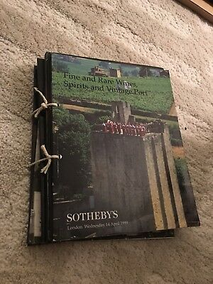 Sotheby's Fine And Rare Wines Spirits And Vintage Port 5 Catalogues Lot 1999!