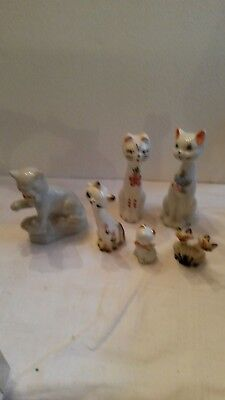 6  Figurines Chat