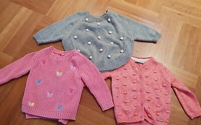 Baby Girl Bundle Winter Jumpers Size 0