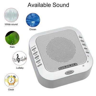 White Noise Therapy Sleep Soothing Relax Machine 5 Nature Sounds Night Light Set