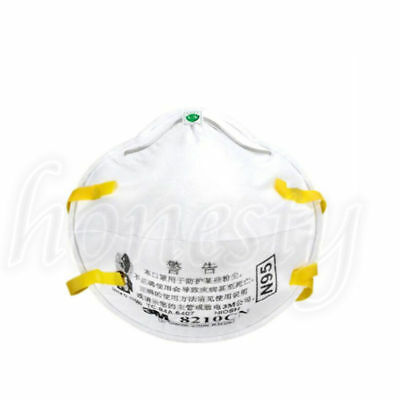 2pcs~50pcs 3M 8210 N95 Particulate Respirator Noseclip Adult Dust Mask