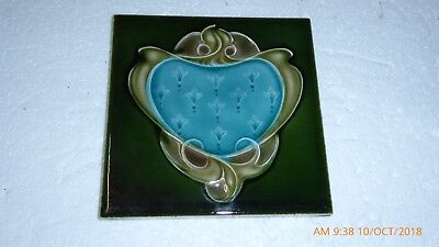 Art  Nouveau  Tile  By    Richards   1903  1906