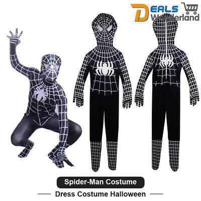 Black Venom SpiderMan Superhero Adult Kids Cosplay Fancy Dress Costume Halloween