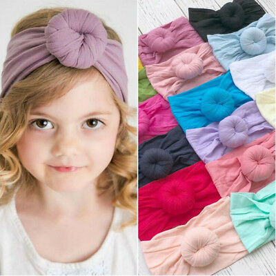 Toddler Girls Baby Kids Headband Hairband Stretch Turban Knot Head Wrap Gifts UK