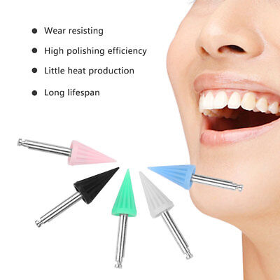 Hot 100pcs Dental Prophylaxis Silicone Rubber Tapered Polishing Prophy Cup Brush