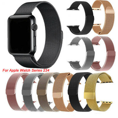 Fr 40/44MM Apple Watch Series 4 Stainless Steel Magnetic iWatch Band Wrist Strap