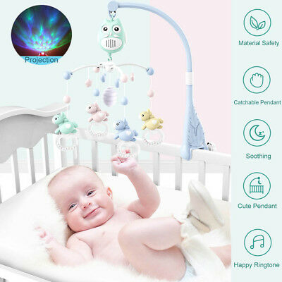 Baby Toy Baby Musical Crib Bed Cot Mobile Stars Dream Light Nusery Lullaby