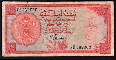Libya: Bank Of Libya. Quarter pound. (1963). 3F/6 262363. (Pick 28). Fine.