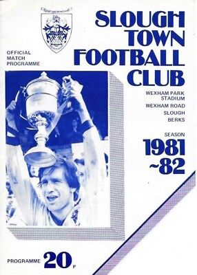 Slough Town V Chalfont St. Peter  81/82 -- Fa Cup.