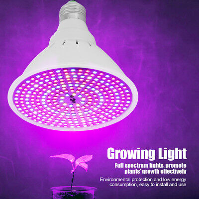 290 LED E27 Bulb Plant Growing Light Indoor Shed Plants Full Spectrum Grow Lamp