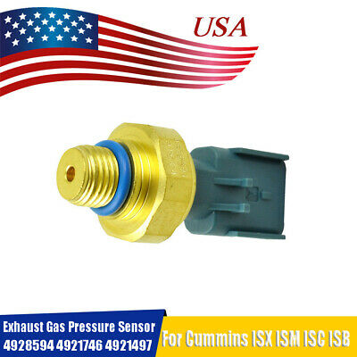 EXHAUST GAS PRESSURE Sensor For Cummins ISX ISM ISC ISB 4928594 4087989 4921746