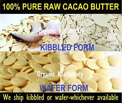 Organic PURE Raw Natural COCOA BUTTER Wafers Unrefined 1 2 4 5 8 10 16 32 oz Lb