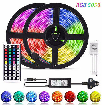 Rgb Led Strip Lights Colour Changing Under Cabinet Kitchen Lighting Smd 5050
