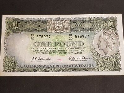 COMMONWEALTH of AUSTRALIA - ONE POUND NOTE - Signed by Coombs & Wilson