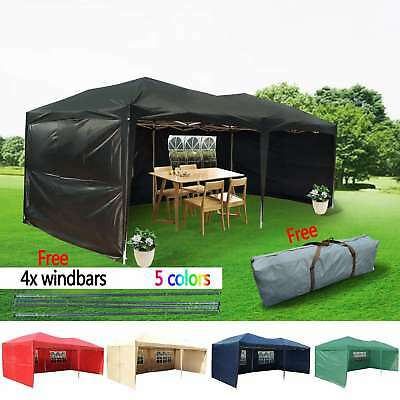 Heavy Duty 6x3 mtr FULLY WATERPROOF Pop Up Gazebo Wedding Party Tent with Sides