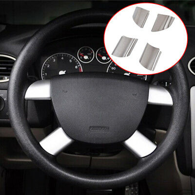 Chrome Steering Wheel Panel Cover Trim For Ford Focus Mk2 05-11 Decoration