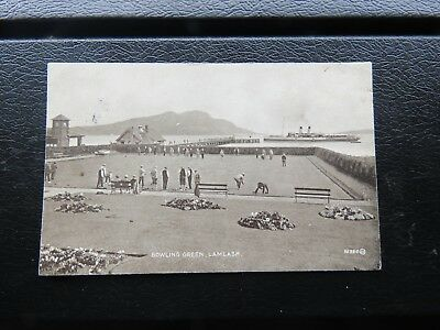 Bowling Green and Pier, Lamlash Isle of Arran, Steamer Queen Alexandra 1928