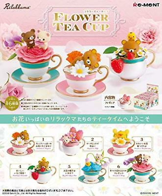 RE-MENT Rilakkuma Flower Tea Cup figure 1BOX = 6 pieces Complete Set Japan