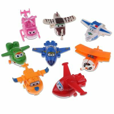 4/8/12pcs Animation Super Wings Transformation des avions Airplane Figures FR