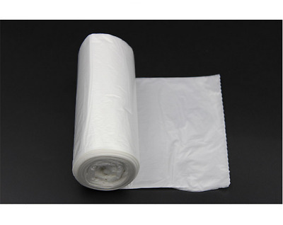 45Ct Strong 13 Gallon Commercial Kitchen Trash Bag Flat Garbage Bag Yard Clear