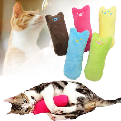 B453 Interactive Funny Catnip Cat Pillow Kitty Teeth Grinding Claws Pets Toys
