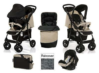 Hauck Shopper Slx Shop N Drive Travel System + Accessories From Birth Almond