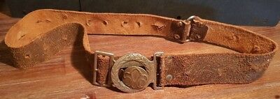 Leather Scout Belt