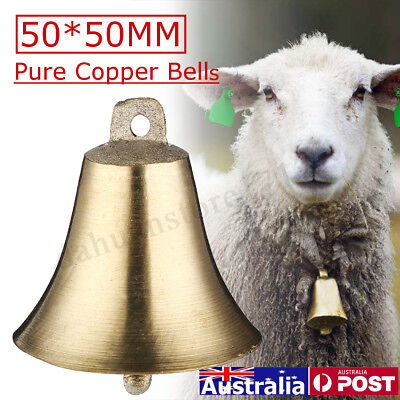 Pure Copper Bell Super Loud Sheep Dog Cat Cow Horse Animal Farm Bells Decor
