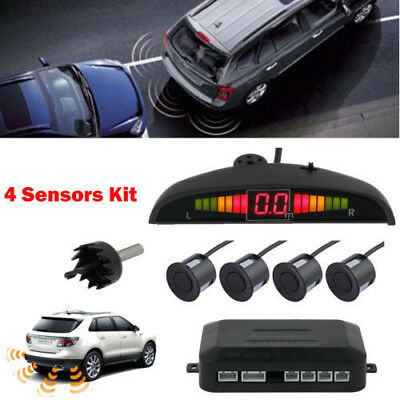 Car Parking Rear Reversing Sensors 4 Sensors Kit Audio Buzzer Alarm LED Display