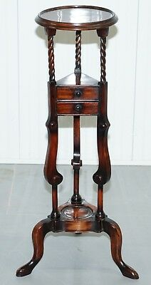 1 Of 2 George Iii Style Mahogany Jardiniere Display Stands With Two Faux Drawers