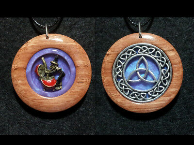 Triquetra and Witch Double Sided Pendant,Celtic Knot, Pagan,Wiccan,Witchcraft