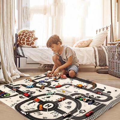 Kids City Road Play Mat Childrens Car Road Carpet Rug Toy Playmat Waterproof