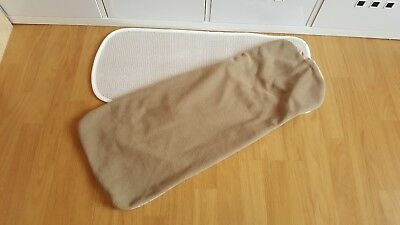 Bugaboo Cameleon 1, 2 carrycot mattress cover and topper only beige tan sand