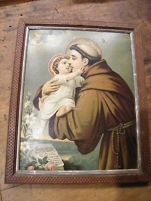 Antique collectable Biblical Saint Holy Latin catholic print