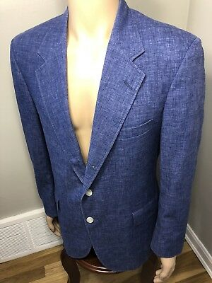 80s VTG Mark Fore Strike Blue BLAZER SUIT JACKET MENS 40 Retro Rockabilly 90s