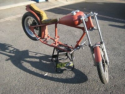 Custom Hard Tail Rolling Chassis. Triumph 350 / 500 Engine. Bobber / Chopper.