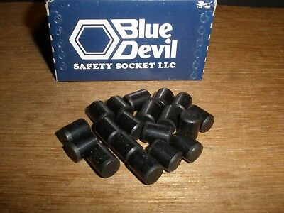 "3/8"" X 1/2"" Dowel Pins Blue Devil Black Oxide Ebony Finish USA Made (Qty.19)"