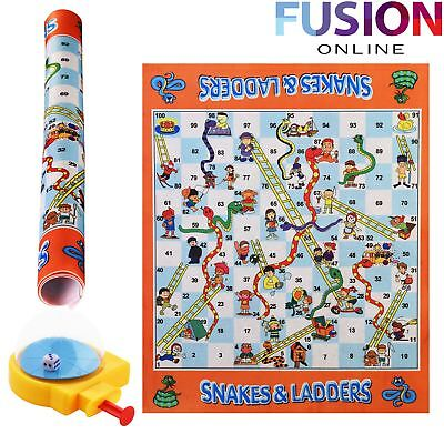 Giant Snakes And Ladders Traditional Childrens & Family Board Game Kids Adults