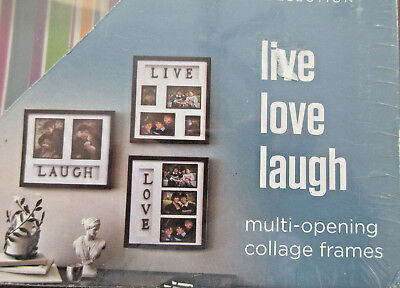 Live Laugh Love Photo Picture Collage Frame Set Of 3 Home Wall Art