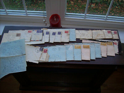 VeryCollectible lot (25) Old Ephemera-Mostly Military Letters-Old Stamps,History