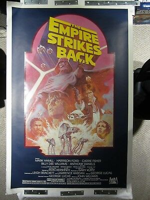 Star Wars, Empire Strikes Back R-1982 Orig 27X41 Rolled Movie Poster