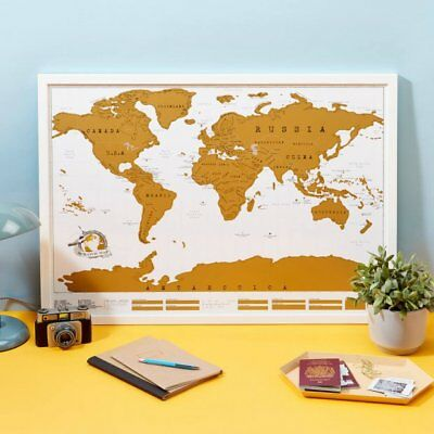 Luckies of London Scratch Map Original Personalised World Poster, Travel Gift