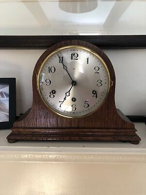 Vintage Art Deco 'HAC' Mantel Clock with Westminster Chimes