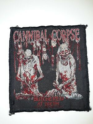 Cannibal Corpse Patch Butchered At Birth Old School Death Metal Barnes...