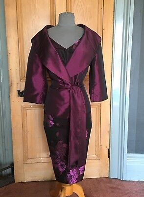 Gorgeous Alexon Mother Of The Bride/evening Dress & Jacket, Size 14
