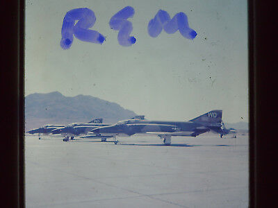 Original Slide,USAF F-4 Phantom Jet WD 322 35MM S-1 Air Force Nellis AFB 1968