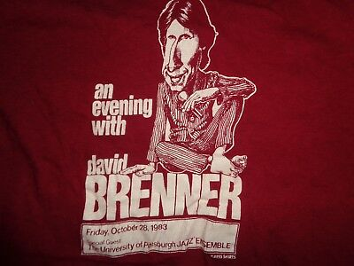 80s L tag S fit VTG 1983 David Brenner Comedian University Pittsburgh shirt tour